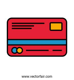 credit card line and fill style icon vector design