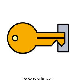 key line and fill style icon vector design