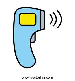 electronic thermometer line and fill style icon vector design