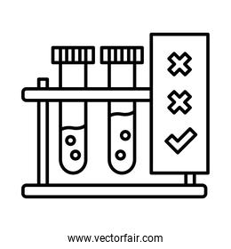 test tubes line style icon vector design