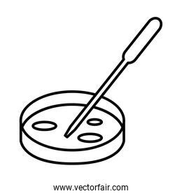 plate with dropper line style icon vector design