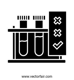 test tubes silhouette style icon vector design