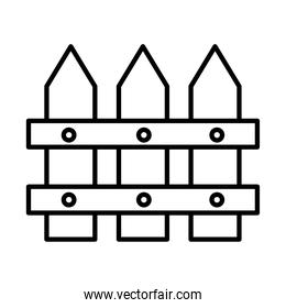 Gardening fence line style icon vector design