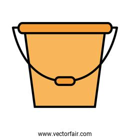 Gardening bucket line and fill style icon vector design