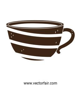 coffee ceramic cup utensil silhouette icon style