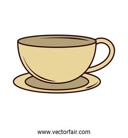 hot tea beverage breakfast line and fill icon