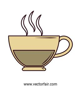 hot tea beverage line and fill icon