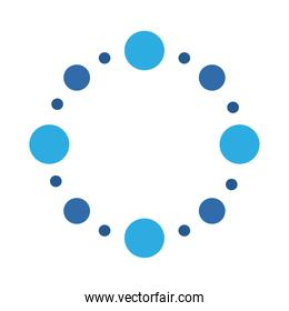 dotted blue dots decoration isolated design