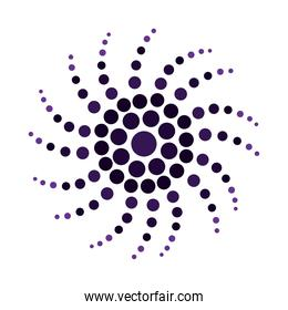 dotted abstract floral flower isolated white background