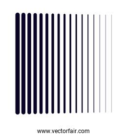 black gradient lines isolated white background