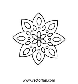 icon of diwali flower, line style
