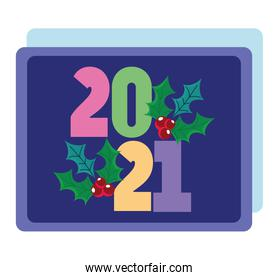 2021 happy new year, greeting card celebration party