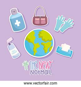 new normal lifestyle, world gloves gel alcohol disinfect