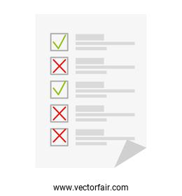 voting paper icon vector design