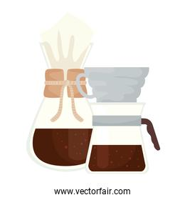 coffee bag and drip vector design