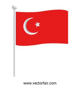 Turkish flag icon vector design