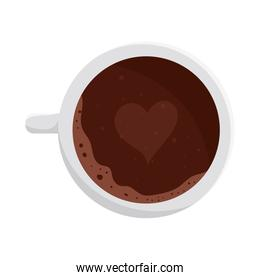 coffee cup with heart vector design
