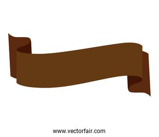 Isolated brown ribbon icon vector design