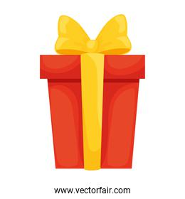 Gift with bowtie vector design