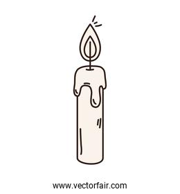 candle with flame isolated icon