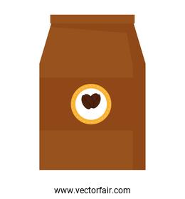 coffee beans bag isolated vector design