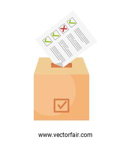 vote paper on box vector design