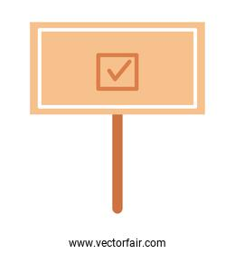vote banner with check mark vector design