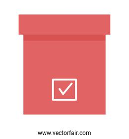 vote box with check mark vector design