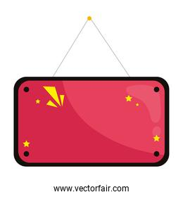 banner hanging icon vector design
