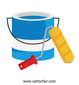 paint bucket and roll vector design