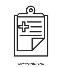vaccine research science clipboard report medical line icon