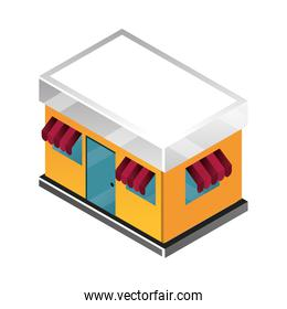 store facade building commerce isometric