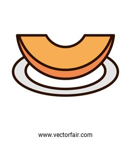 slice pumpkin in the saucer line fill icon