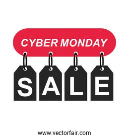cyber monday, hanging tags price sale letters