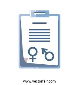 medical equipment clipboard report isolated detailed icon