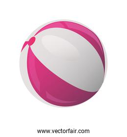 summer vacation travel, beach ball toy detailed style
