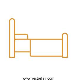 home bed line style icon vector design