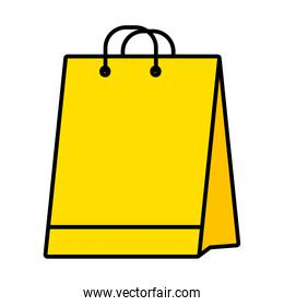 shopping bag icon, line and fill style