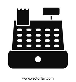 register cash icon, silhouette style