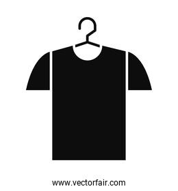 tshirt on a hanger, silhouette style