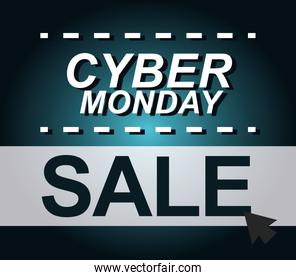cyber monday, sale click button offer, gradient background