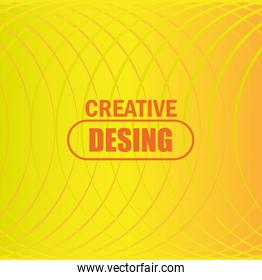 background glowing yellow shapes half circle creative design