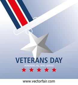 happy veterans day, honoring all who served medal star
