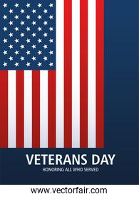 happy veterans day, US flag emblem national