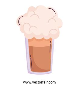 coffee frappe foam fresh isolated icon style