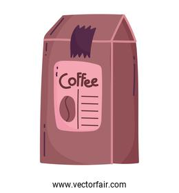 coffee pack product shop isolated icon style