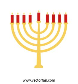 jewish menorah flat style icon vector design