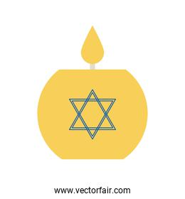 jewish candle flat style icon vector design