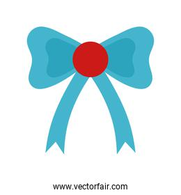 Gift bowtie flat style icon vector design