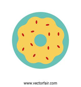 sweet donut flat style icon vector design